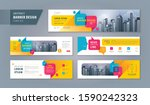 abstract banner design web... | Shutterstock .eps vector #1590242323