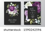 beautiful hand drawn floral... | Shutterstock .eps vector #1590242596