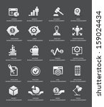 business management icons gray... | Shutterstock .eps vector #159024434