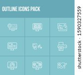 webdesign icon set and content...