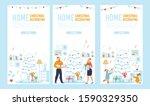 flat mobile landing page set...   Shutterstock .eps vector #1590329350