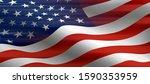 absract patriotic  american... | Shutterstock . vector #1590353959