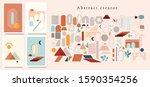abstract design creator. set... | Shutterstock .eps vector #1590354256