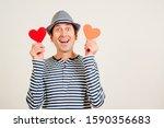 Happy Man In Love. Romantic Gu...