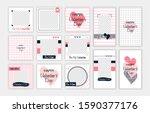 valentine's day editable... | Shutterstock .eps vector #1590377176