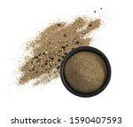 heap of ground black pepper in... | Shutterstock . vector #1590407593