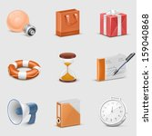 universal web vector icon set | Shutterstock .eps vector #159040868