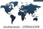 modern detailed globe map in...   Shutterstock .eps vector #1590421549