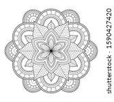 mandala isolated on the white... | Shutterstock .eps vector #1590427420
