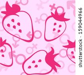 strawberry  male and female... | Shutterstock . vector #159044966