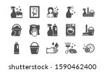 cleaning icons. laundry  window ... | Shutterstock .eps vector #1590462400