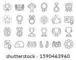 award line icons. set of winner ... | Shutterstock .eps vector #1590463960