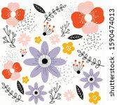 floral pattern  texture ... | Shutterstock .eps vector #1590474013