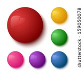 set of colorful glossy buttons. ... | Shutterstock .eps vector #159050078