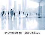 lobby in the rush hour is made... | Shutterstock . vector #159053123