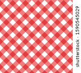 checkered red and white check... | Shutterstock .eps vector #1590545029