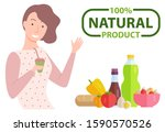 100 one hundred percent natural ... | Shutterstock .eps vector #1590570526