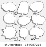 comic speech bubble | Shutterstock .eps vector #159057296