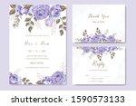vintage wedding invitation... | Shutterstock .eps vector #1590573133