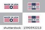 made in usa  united states of... | Shutterstock .eps vector #1590592213