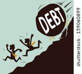businessman running away from... | Shutterstock .eps vector #159060899