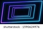 abstract retro sci fi neon... | Shutterstock . vector #1590624976