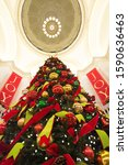 Small photo of Little Rock, Arkansas, United States 14th December 2019- Christmas decoration at State Capitol building