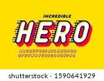 comics style font design  super ... | Shutterstock .eps vector #1590641929