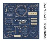 beautiful vintage frame design... | Shutterstock .eps vector #1590647590