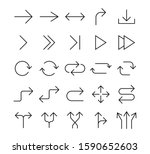 line arrow icon set. vector...