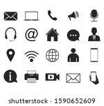 contact icon set. vector...   Shutterstock .eps vector #1590652609