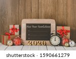 2020 Wooden Text And Alarm...