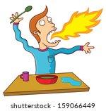 hot food | Shutterstock .eps vector #159066449