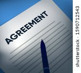 agreement paper  estate agent... | Shutterstock .eps vector #1590712543