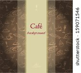 cafe background with tiny... | Shutterstock .eps vector #159071546