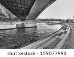 under iena bridge  paris. seine ... | Shutterstock . vector #159077993