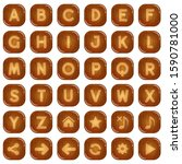 square buttons wood for a to z...