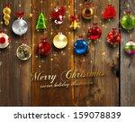 christmas card | Shutterstock .eps vector #159078839