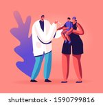 young friendly doctor put... | Shutterstock .eps vector #1590799816