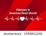 february is american heart... | Shutterstock .eps vector #1590811240