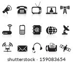 telecommunication icons | Shutterstock .eps vector #159083654