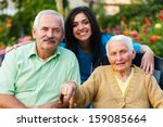 family and doctor teaming up...   Shutterstock . vector #159085664