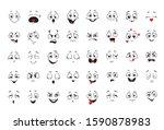 cartoon comics faces set ...   Shutterstock .eps vector #1590878983