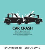 Car Crash Vector Illustration...
