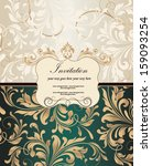 vintage styled card with floral ... | Shutterstock .eps vector #159093254