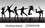 people silhouettes | Shutterstock .eps vector #15909349