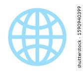 globe icon  earth planet  ... | Shutterstock .eps vector #1590940399