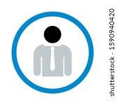 user icon. flat illustration of ... | Shutterstock .eps vector #1590940420