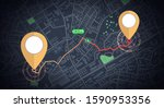 gps mockup icon tracking with... | Shutterstock .eps vector #1590953356