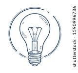 light bulb idea vector simple... | Shutterstock .eps vector #1590996736